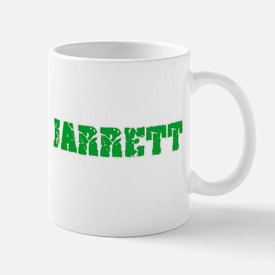 Jarrett Name Weathered Green Design Mugs