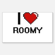 I Love Roomy Digital Design Decal