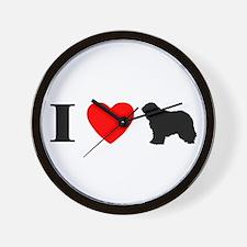 I Heart Komondor Wall Clock