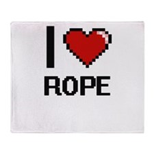 I Love Rope Digital Design Throw Blanket