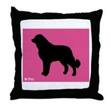 Caucasian iPet Throw Pillow