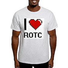 I Love Rotc Digital Design T-Shirt