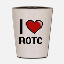 I Love Rotc Digital Design Shot Glass