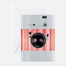 camera vintage canon nikon  pink Greeting Card