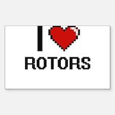 I Love Rotors Digital Design Decal
