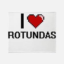 I Love Rotundas Digital Design Throw Blanket