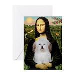Mona's Coton de Tulear Greeting Card