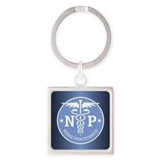 Cute Np Square Keychain