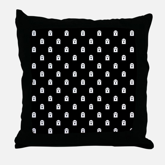 Scary Halloween Ghost Polka Dot Patte Throw Pillow