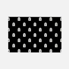 Scary Halloween Ghost Polka Dot P Rectangle Magnet