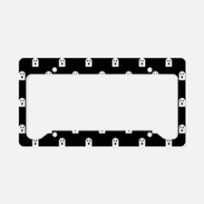 Scary Halloween Ghost Polka D License Plate Holder