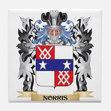 Norris Coat of Arms - Family Crest Tile Coaster