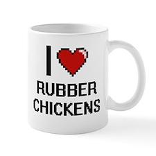 I Love Rubber Chickens Digital Design Mugs