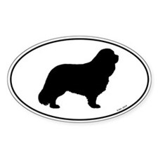Cavalier King Charles Spaniel Oval Decal