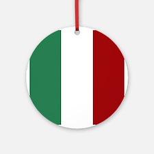 Italian Flag Round Ornament