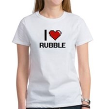 I Love Rubble Digital Design T-Shirt