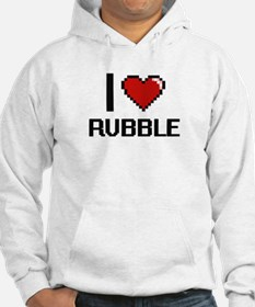 I Love Rubble Digital Design Hoodie