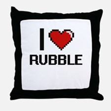 I Love Rubble Digital Design Throw Pillow