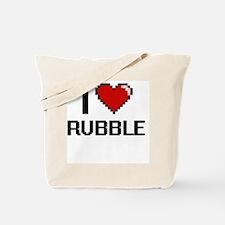 I Love Rubble Digital Design Tote Bag