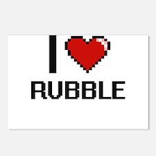 I Love Rubble Digital Des Postcards (Package of 8)