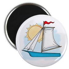"""Summer Sailboat 2.25"""" Magnet (10 pack)"""