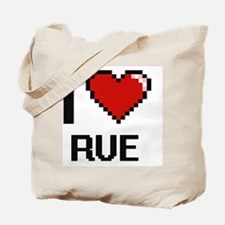 Unique I love rue Tote Bag