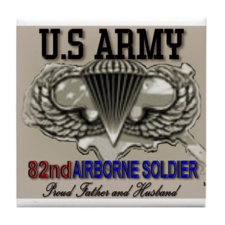 U.S. Army 82nd Airborne Tile Coaster