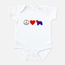 Peace, Love, Komondor Baby Bodysuit