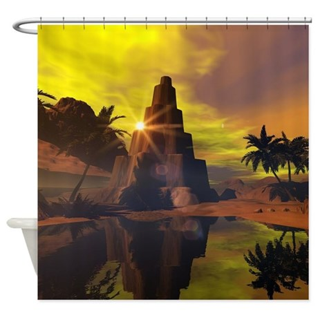Fantasy world shower curtain by fantasyworld7 for Fantasy shower curtains