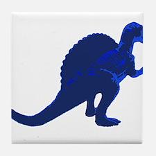 Retro Blue Spinosaurus Tile Coaster