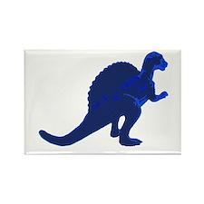 Retro Blue Spinosaurus Rectangle Magnet