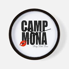 Camp Mona Kiss Wall Clock