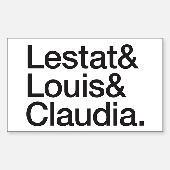 Lestat Louis Claudia - Black Decal