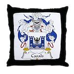 Casals Family Crest Throw Pillow