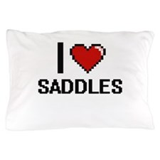 I Love Saddles Digital Design Pillow Case