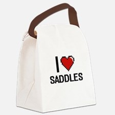I Love Saddles Digital Design Canvas Lunch Bag