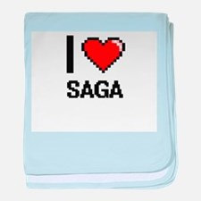 I Love Saga Digital Design baby blanket