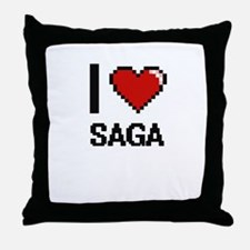 I Love Saga Digital Design Throw Pillow