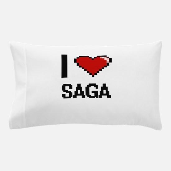 I Love Saga Digital Design Pillow Case