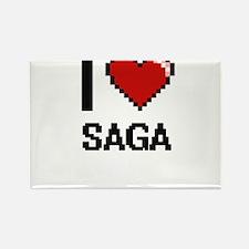 I Love Saga Digital Design Magnets