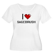 I Love Sagebrush Digital Design Plus Size T-Shirt