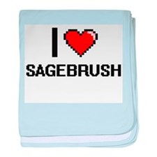 I Love Sagebrush Digital Design baby blanket
