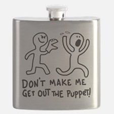 Cute Puppetry Flask
