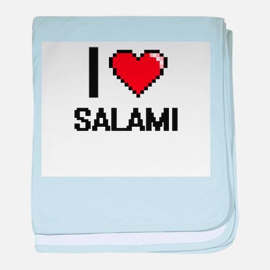I Love Salami Digital Design baby blanket