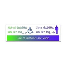 invisible disabilities Car Magnet 10 x 3