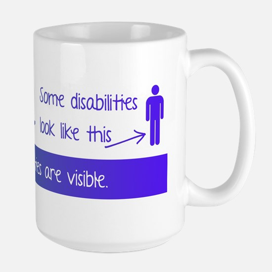 invisible disabilities Large Mug