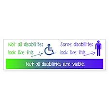 invisible disabilities Car Car Sticker