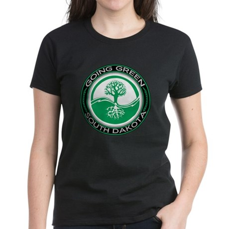 Going Green South Dakota (Tree) Women's Dark T-Shi
