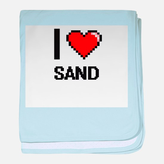 I Love Sand Digital Design baby blanket
