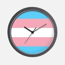 Transgender Pride Flag Wall Clock